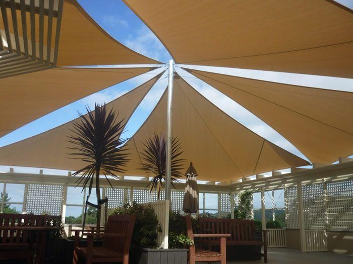 Shade Sails, Verandah Curtains and other outdoor canvas ... on Canvas Sun Shade Pergola id=17060