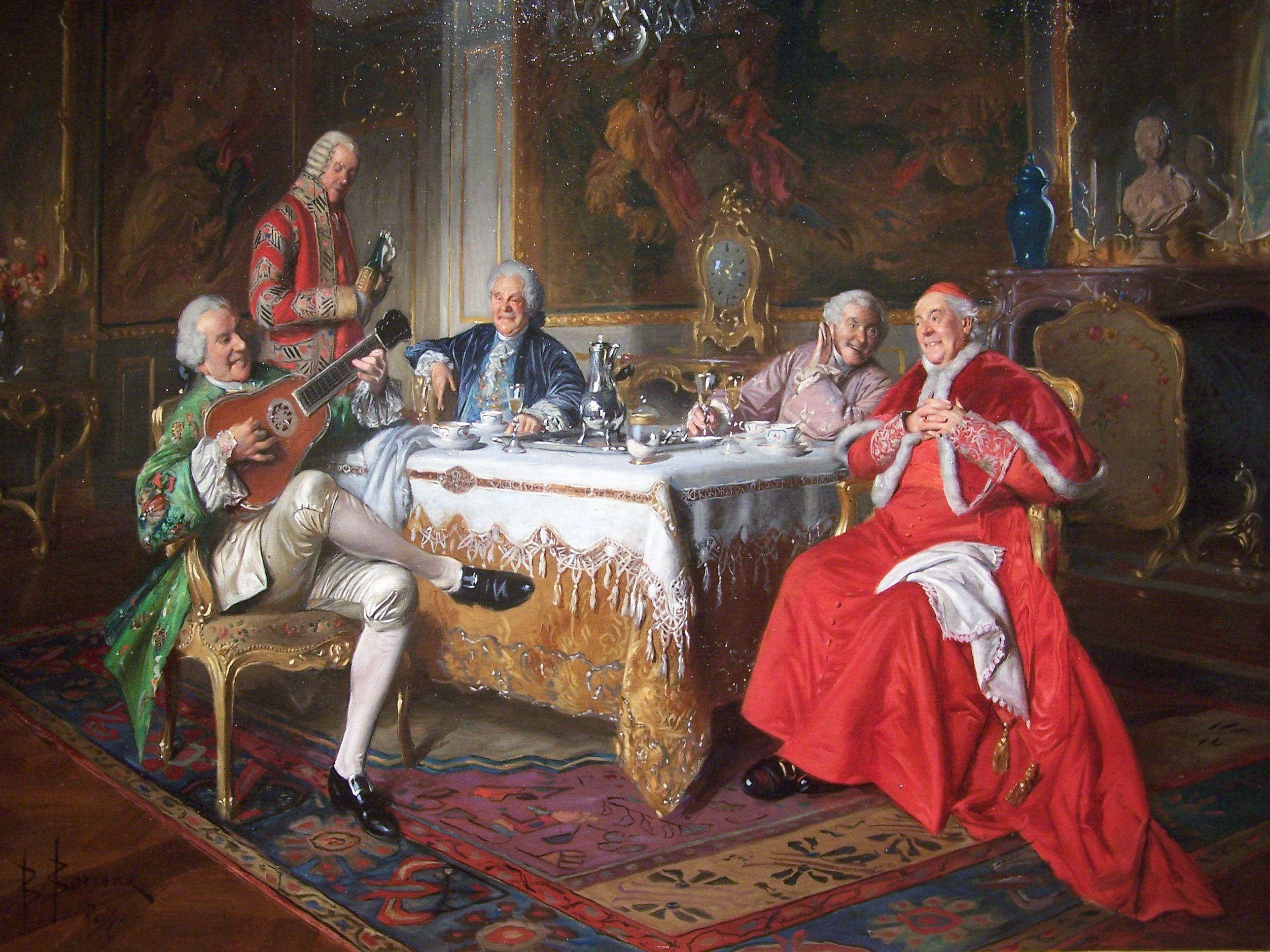 La cena del cardenal bernard louis borione artista for Cena en frances