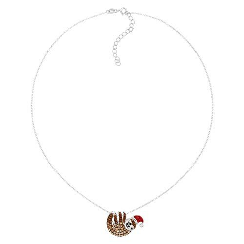 1b45c501e6810 Crystaluxe Santa Hat Sloth Pendant Necklace with Swarovski Crystals ...