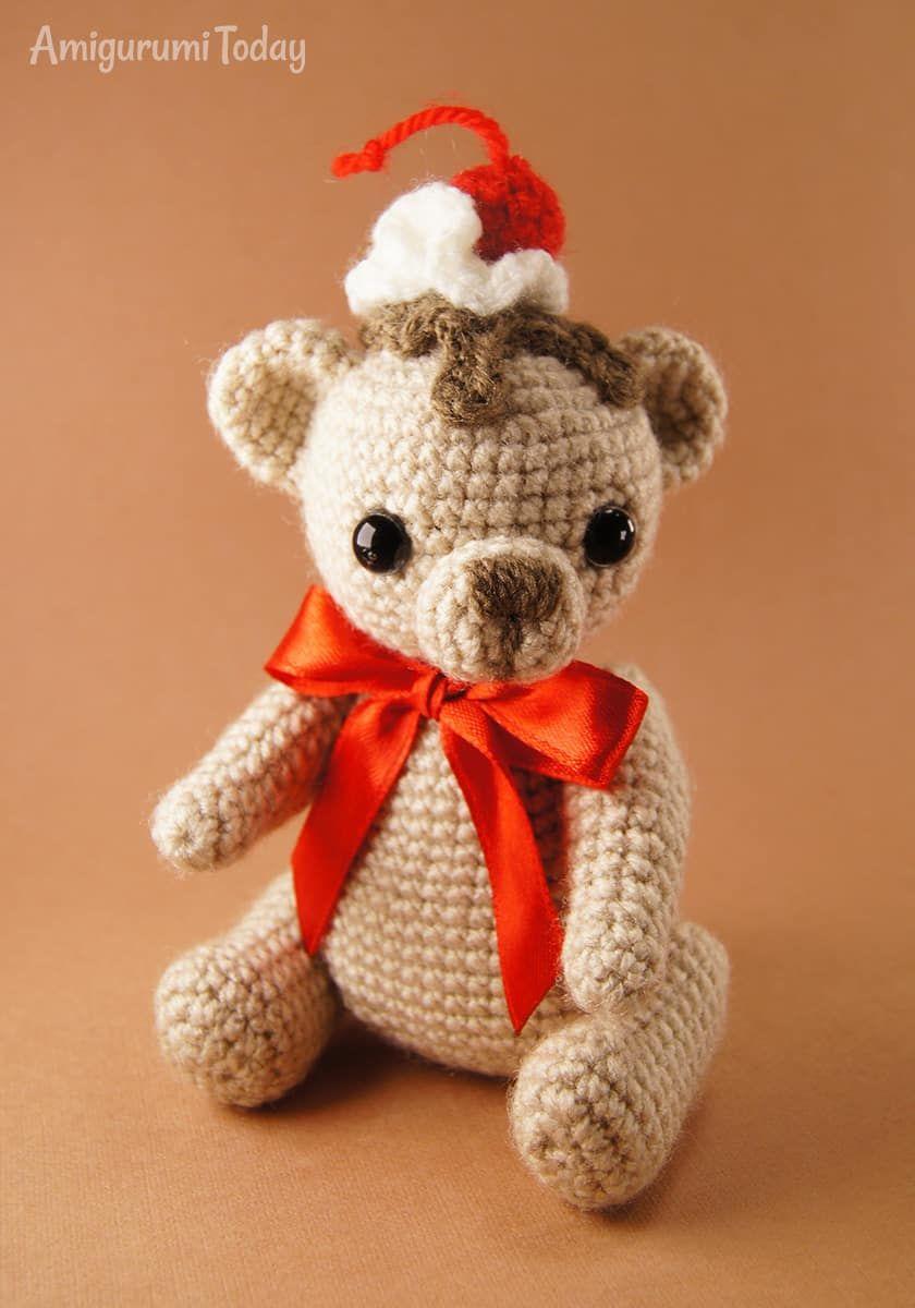 Crochet cake bear pattern