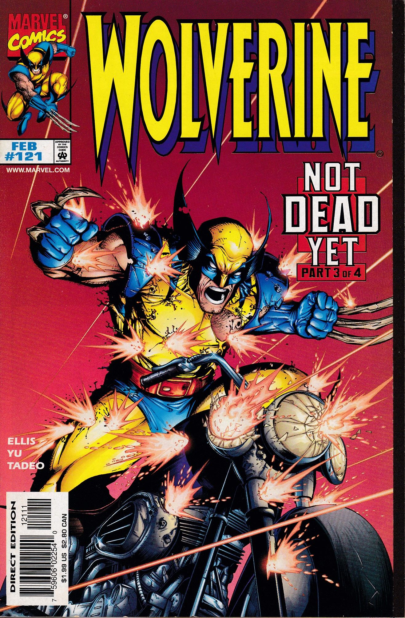 Wolverine 121 Marvel Comics Vol 2 Wolverine Comic Comics Wolverine Comic Art