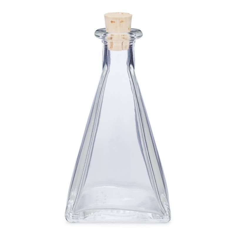 3 Oz Clear Glass Pyramid Bottles Glass Bottles Wholesale Glass
