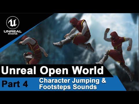 跳躍和腳步聲 Character modeling, Tech art, Unreal engine