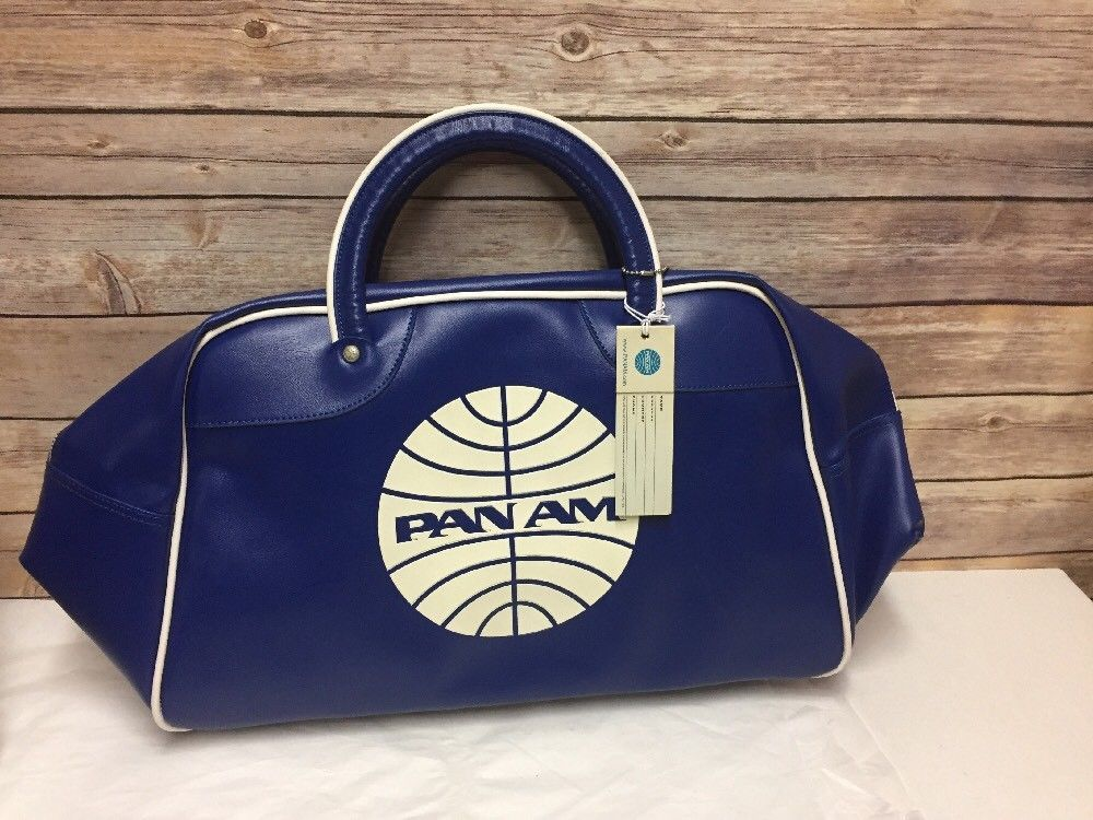e898f3d773 Pan Am Explorer Flight Bag Vintage Blue White Airline 22x11 Inches ...