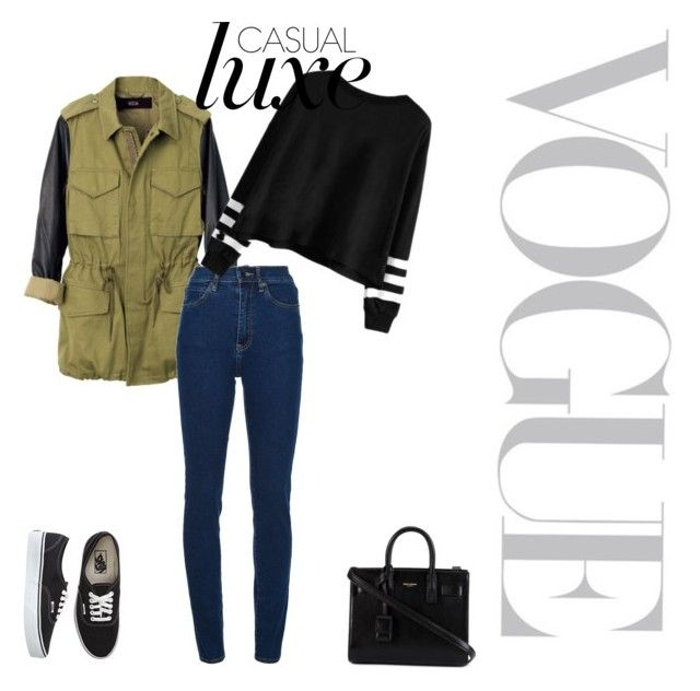 """""""I don't know #33"""" by gizawow ❤ liked on Polyvore featuring Veda, Wood Wood, Yves Saint Laurent and Vans"""