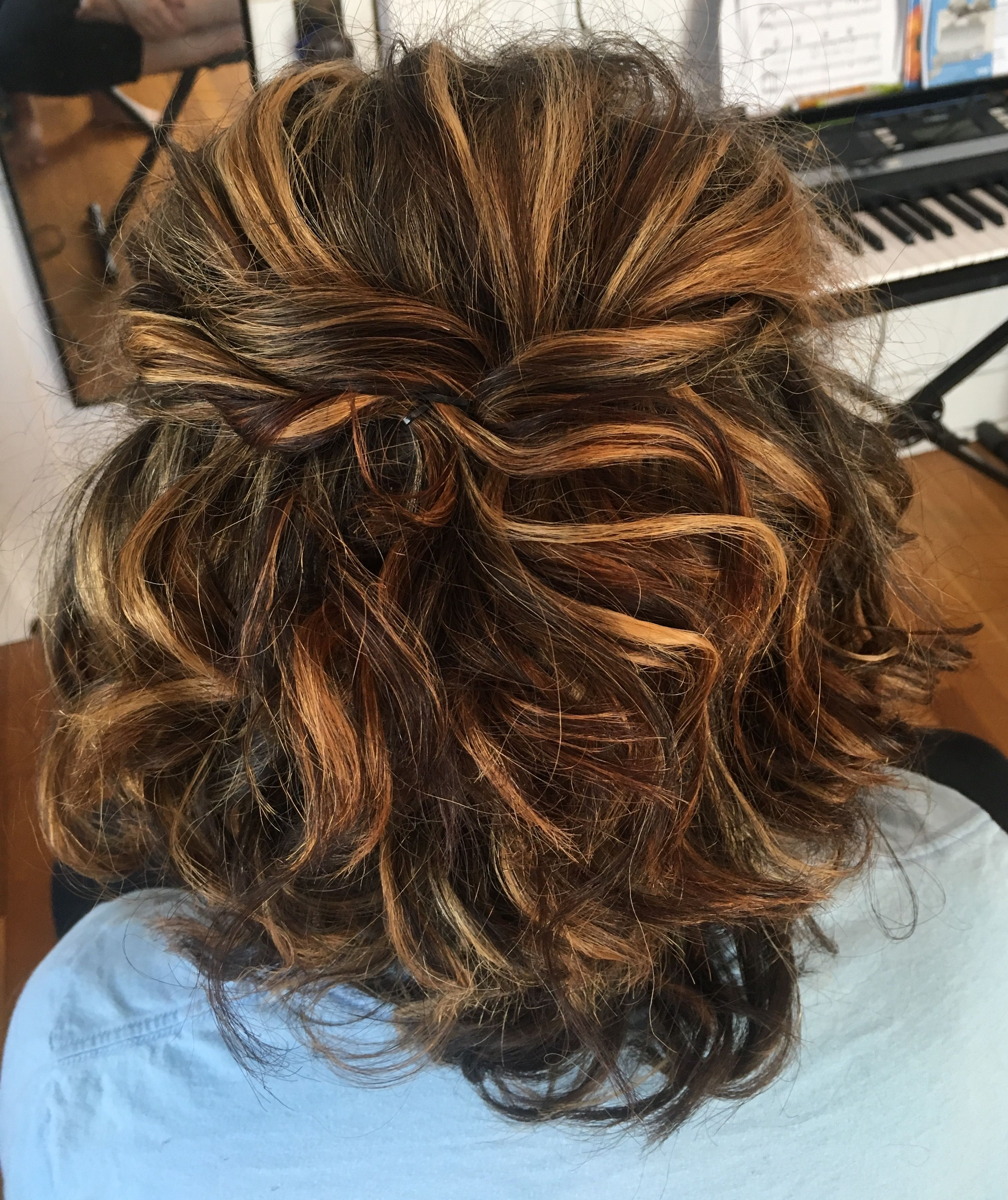 Prom hairstyle for shoulder length hair, half up half down ...