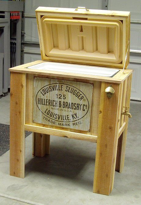 wooden ice cooler by nickyp woodworking community woodworking. Black Bedroom Furniture Sets. Home Design Ideas