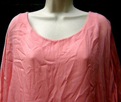 Ladies Lagenlook Italian Peach /& Lilac /& WhiteTie Dye Silk One Size Blouse//Tunic