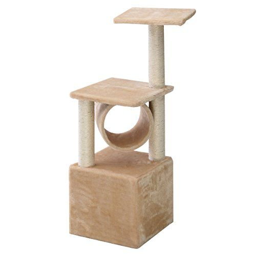 Deluxe 36 Cat Tree Condo Furniture Play Toy Scratch Post Kitten Pet House Beige -- Learn more by visiting the image link.