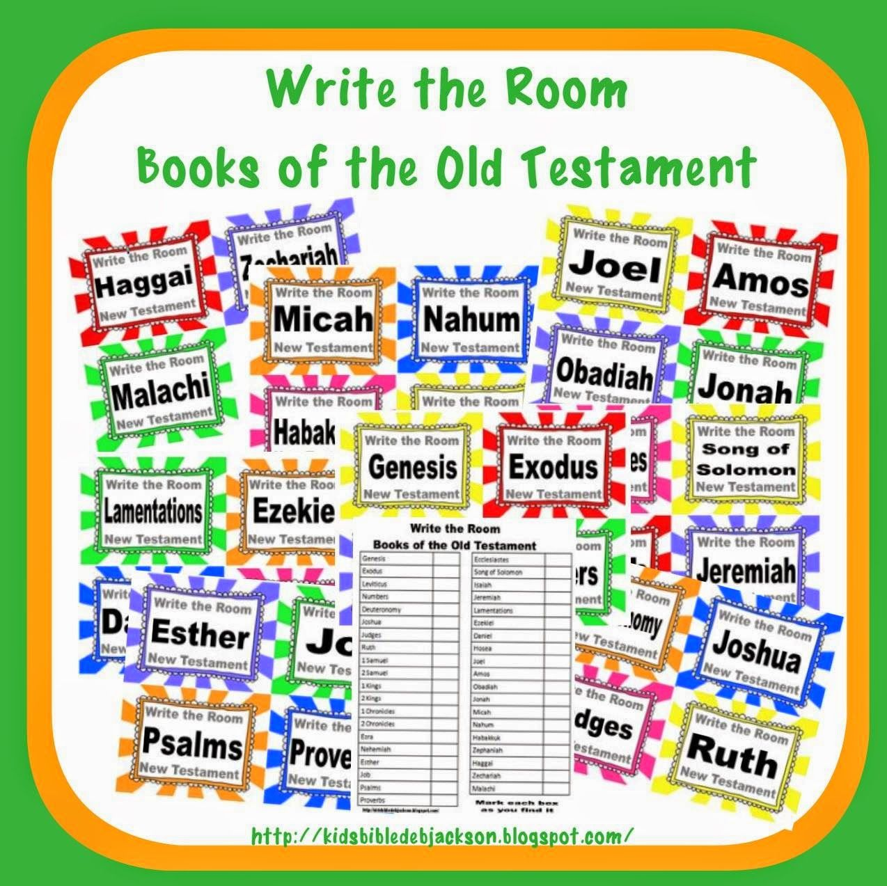 Bible Fun For Kids: Write the Room: Books of the Bible | Bible ...