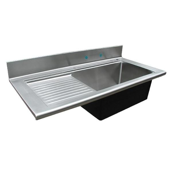 Custom Stainless Sink From Handcrafted Metal Backsplash And Drainboard Kitchen Inspiration Design Stainless Sink Sink