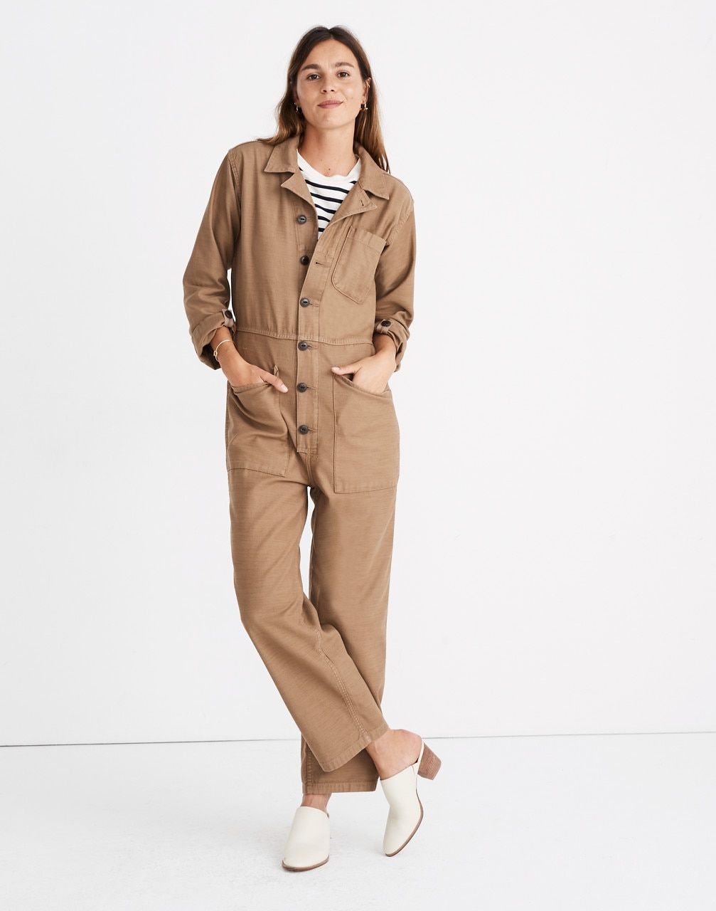 4f2524c61f8 Madewell x As Ever™ Coveralls in weathered olive image 2