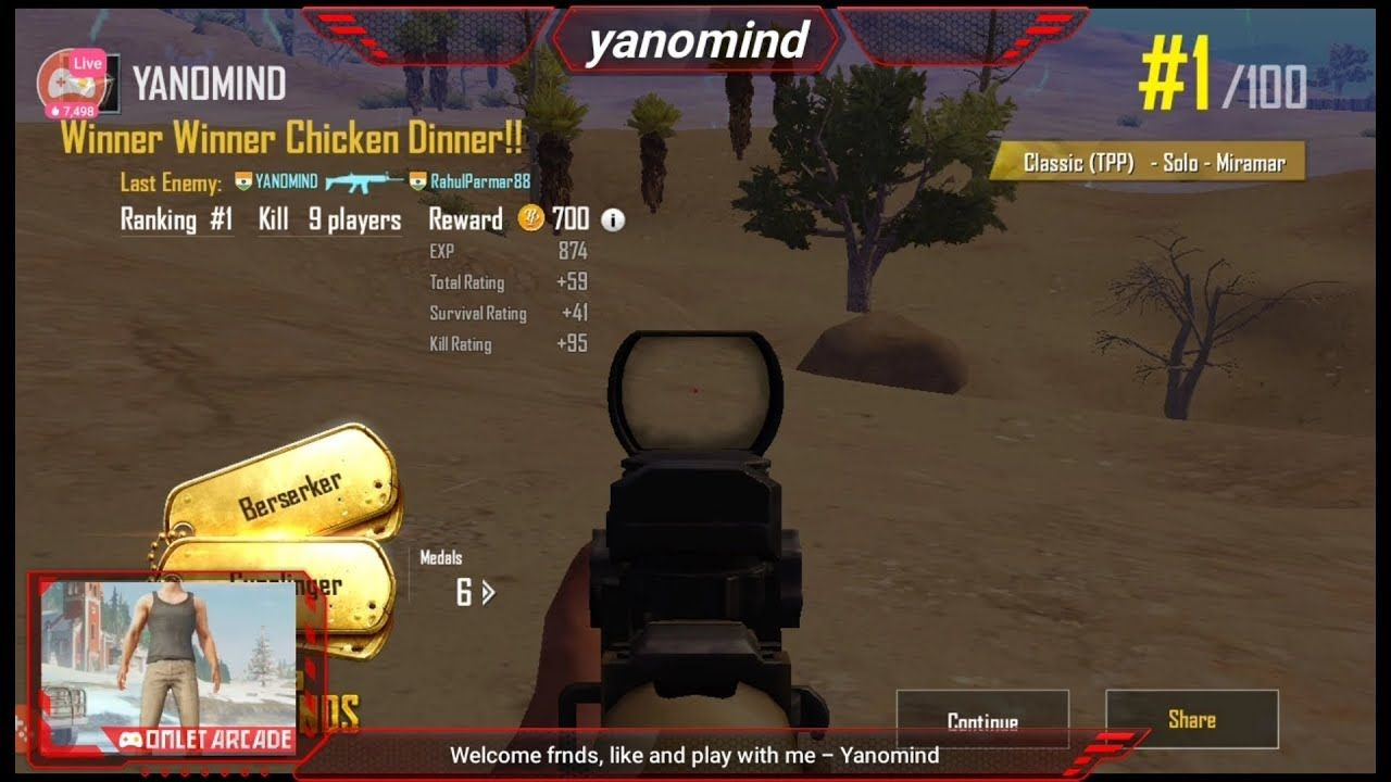 PART- 2 ] PUBG MOBILE - MIRAMAR - Winner Winner Chicken