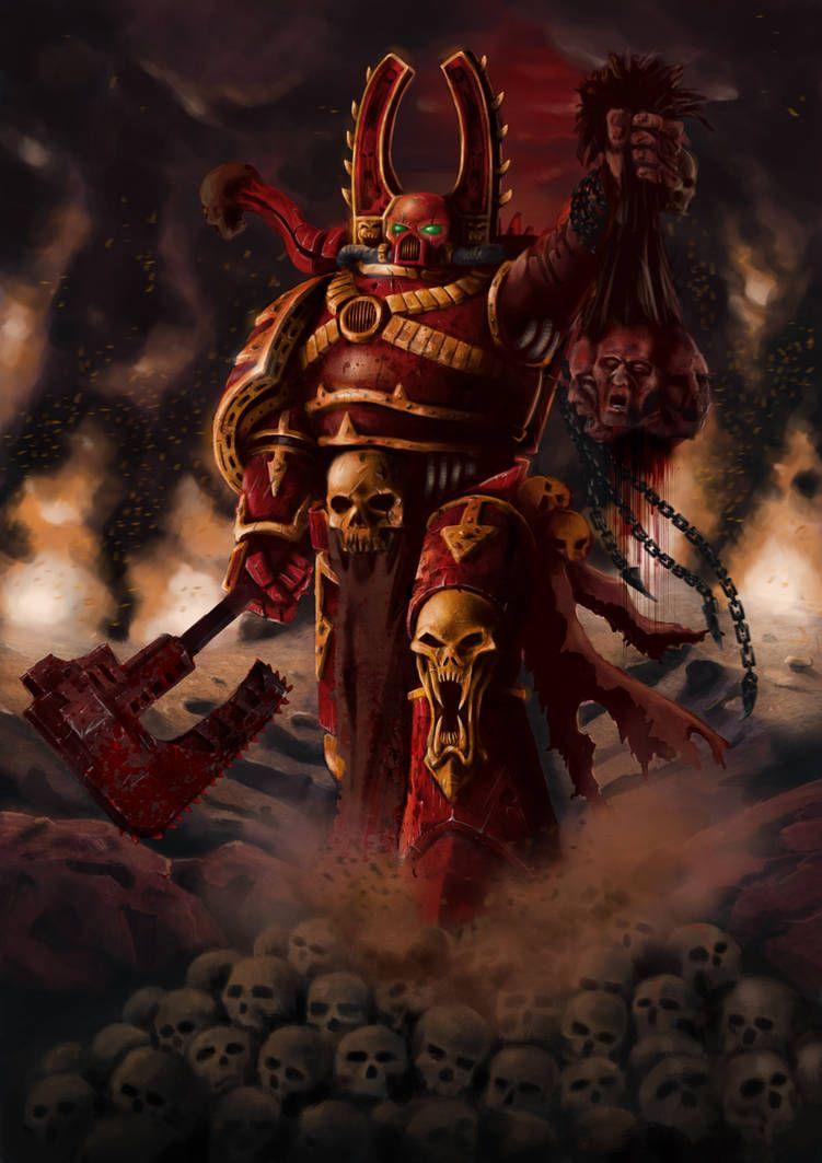 Kharn The Betrayer By Https Www Deviantart Com Filip Hammer On Deviantart Warhammer Art Warcraft Art Warhammer Fantasy