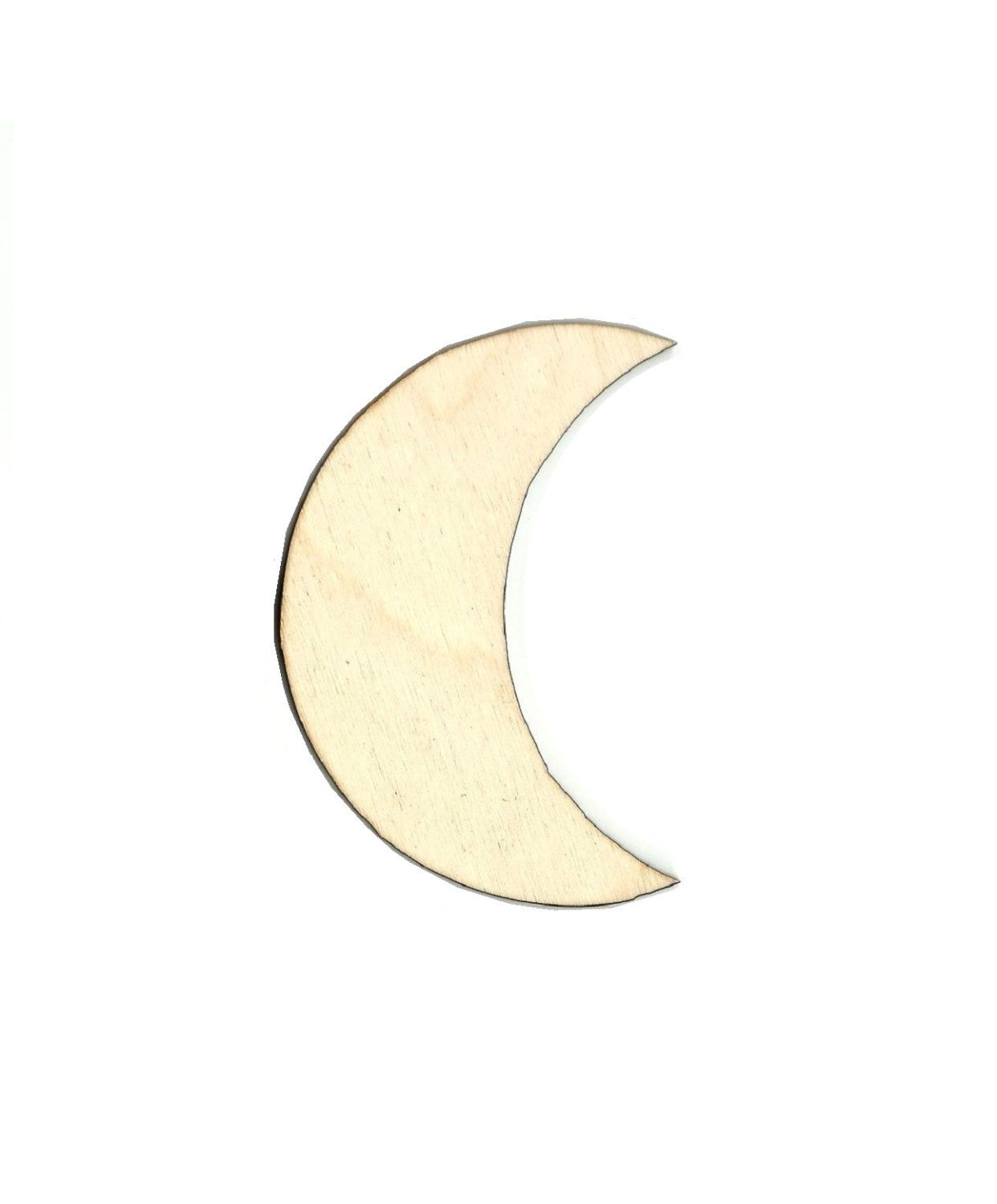 Unfinished wood craft pieces - Moon Laser Cut Out Unfinished Wood Shape Craft Supply Sky43