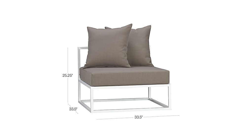 casbah modular armless chair | CB2