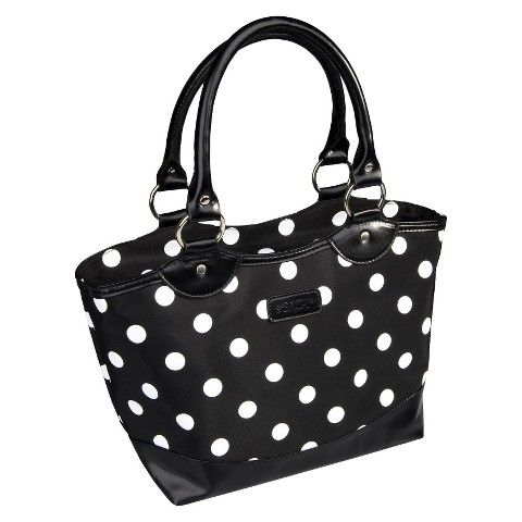 Sachi Black with White Dots Insulated Lunch Tote - Target