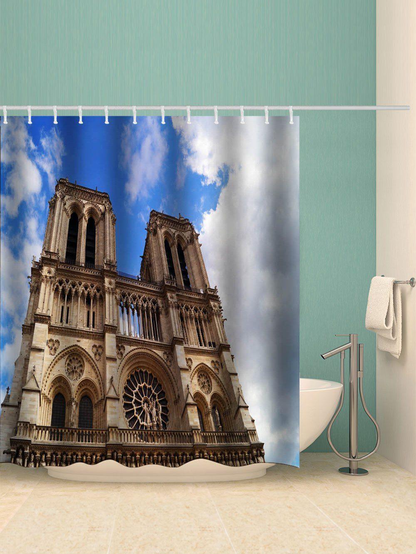 Notre Dame De Paris Sky Waterproof Shower Curtain Ad Affiliate