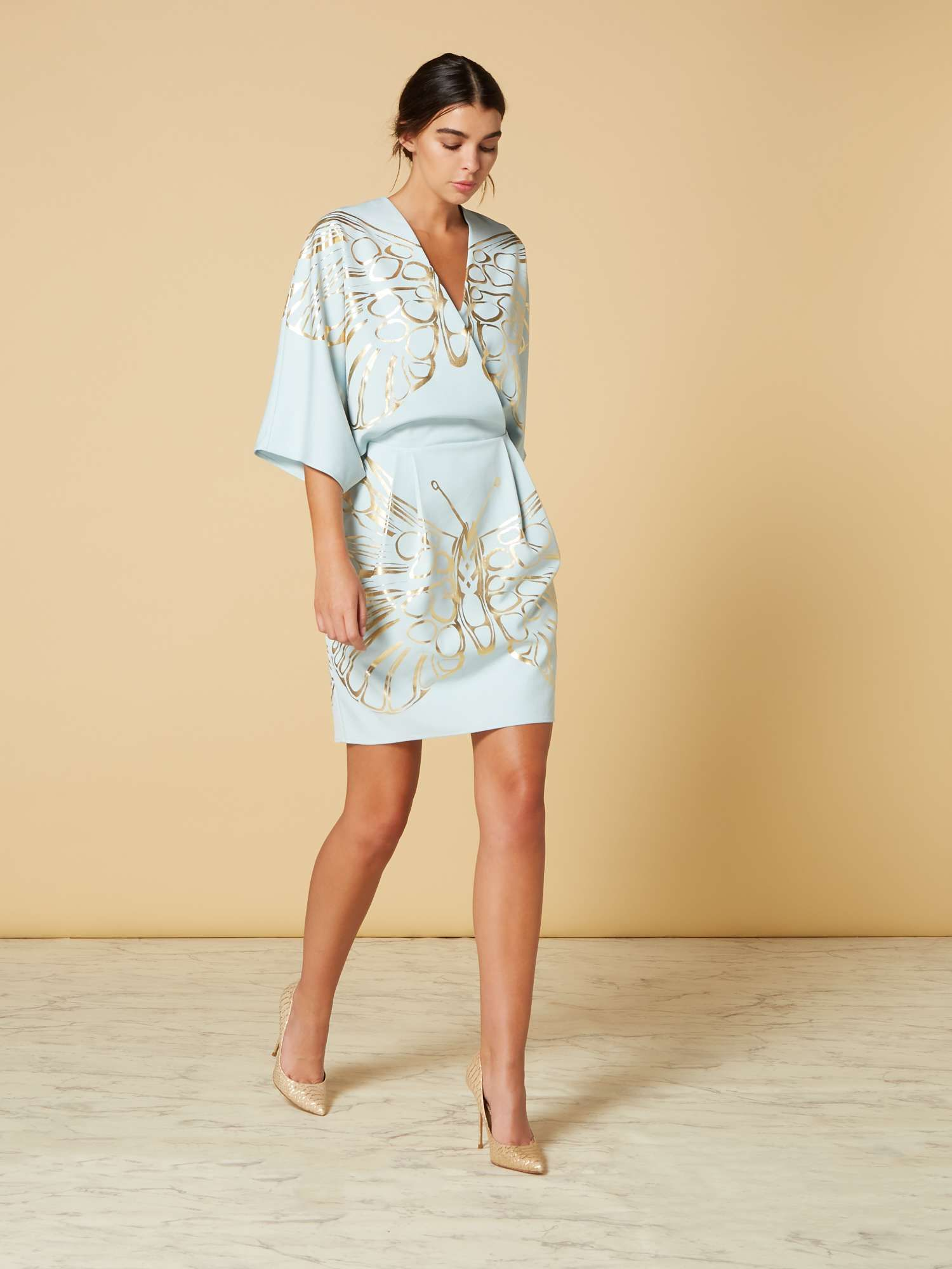 a22f4684929 ISSA Butterfly Placement Wrap Dress - House of Fraser | Style ...
