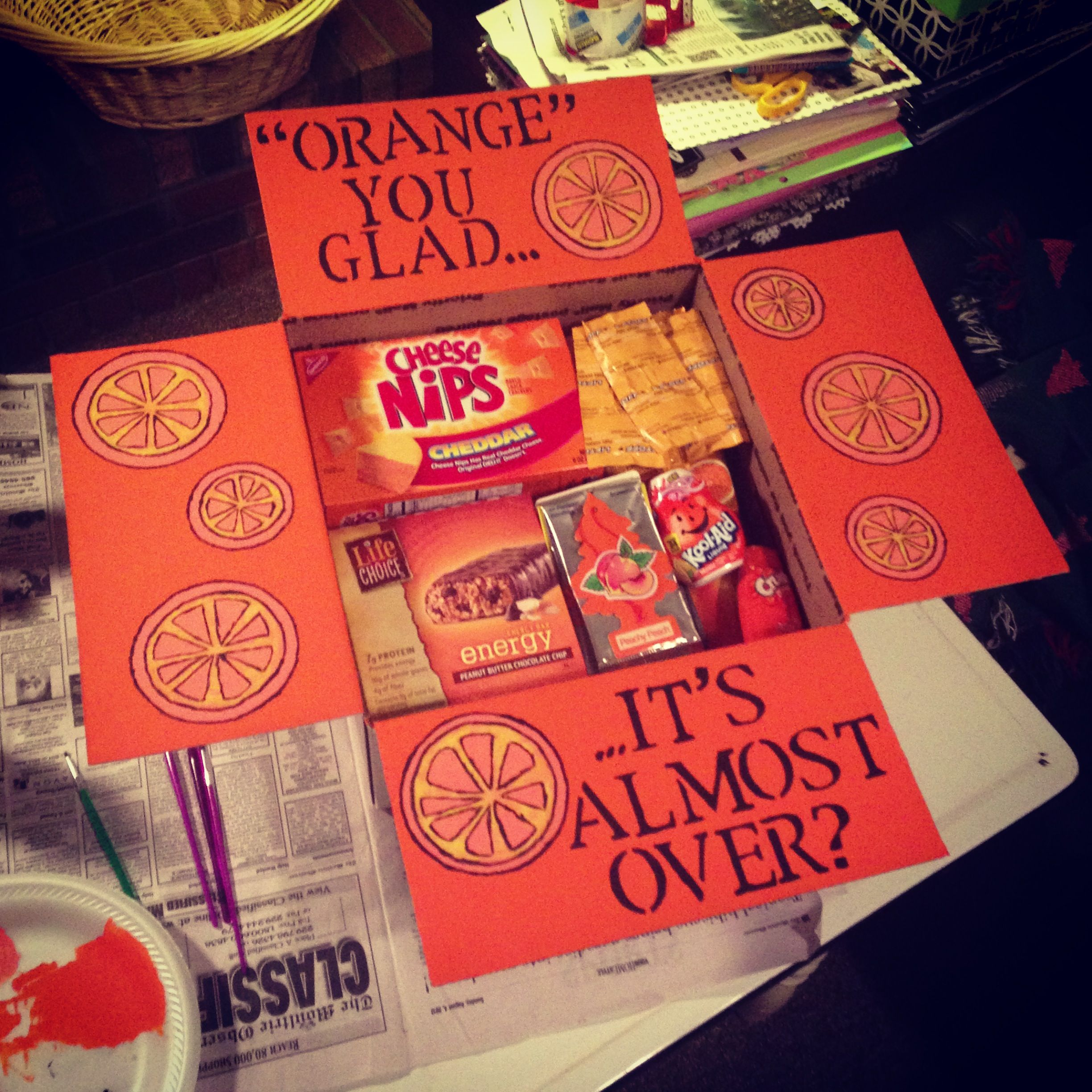 """Luke's 11th Care Package """"Orange"""" You Glad It's Almost"""