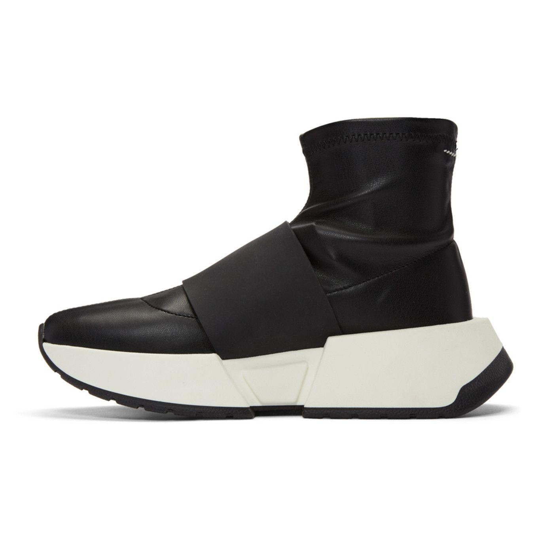 MM6 Maison Martin Margiela Black Sock High-Top Sneakers hSyHy
