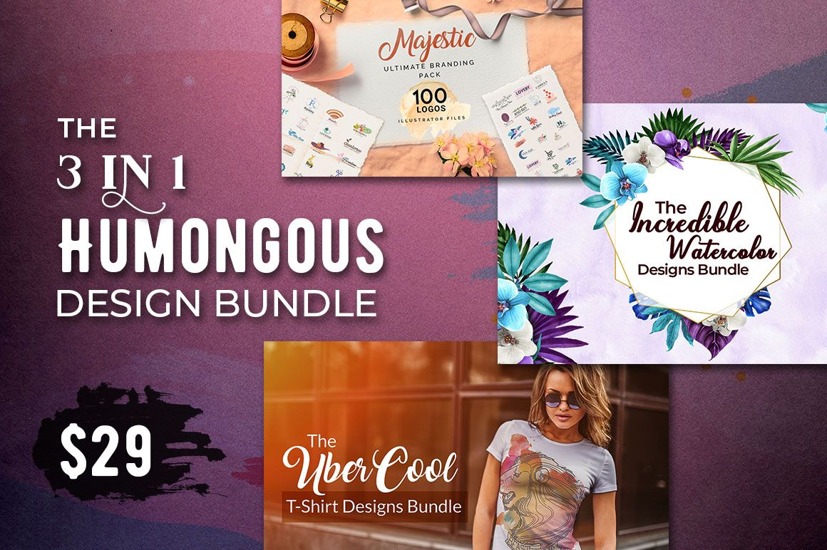 The 3 In 1 Humongous Design Bundle 3 000 Design Resources