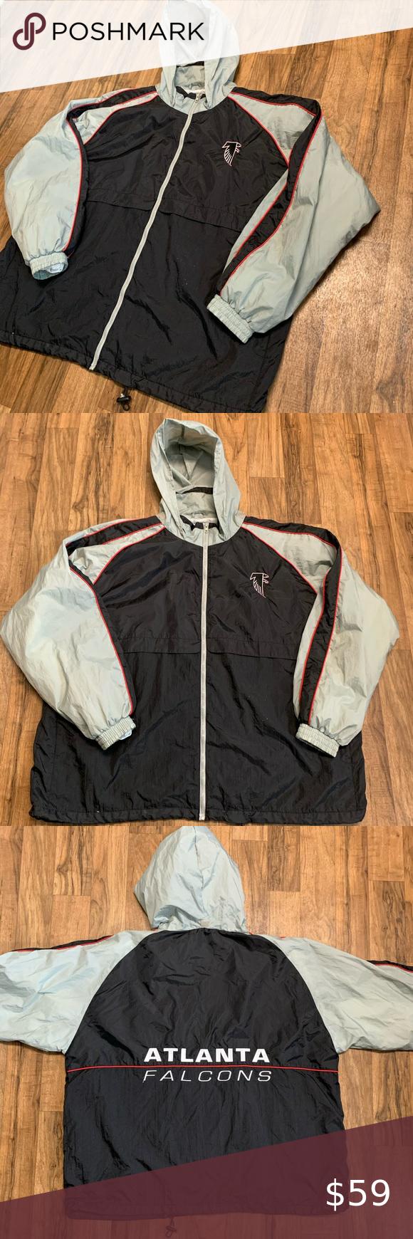 Logo Athletic Vintage Atlanta Falcons Jacket Xxl Football Jackets Jackets Quarter Zip Jacket [ 1740 x 580 Pixel ]
