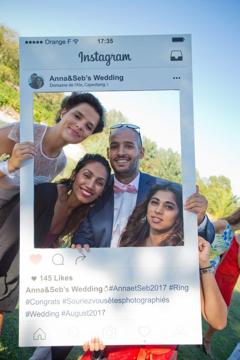 photobooth mariage cadre instagram