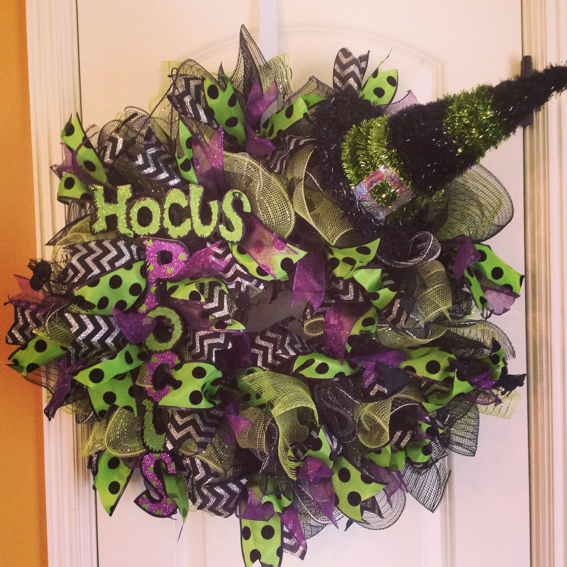 Hocus Pocus Halloween Deco Mesh Wreath