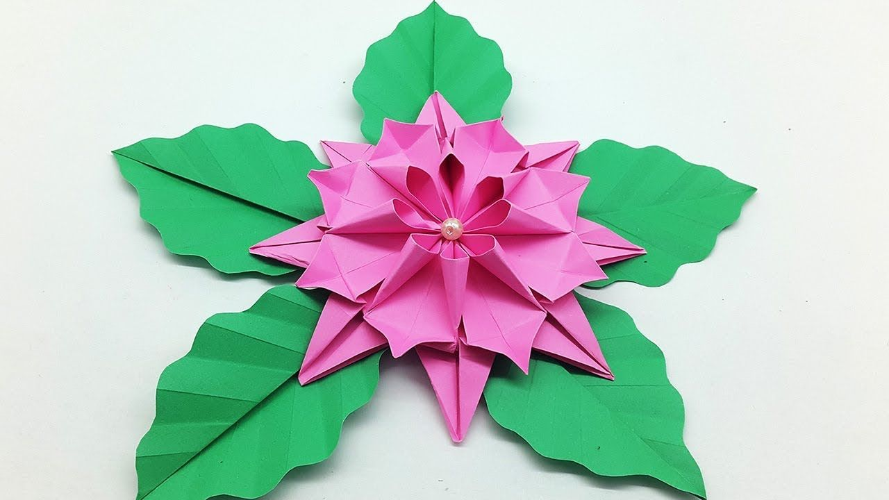 Easy Paper Flower Making Tutorial Origami Dahlia Flower Origami And Quilling Dollar Bill Origami Origami Flowers