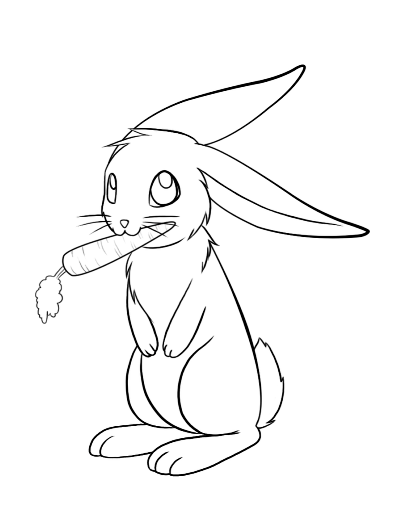 Cute-Bunny-Coloring-Pages-For-Kids.png (1275×1650) | desenhos ...