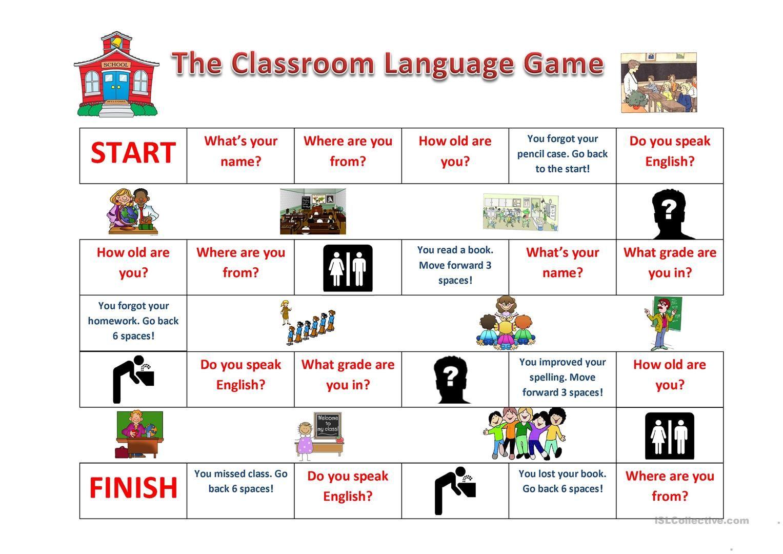 Classroom Language Game Med Bilder