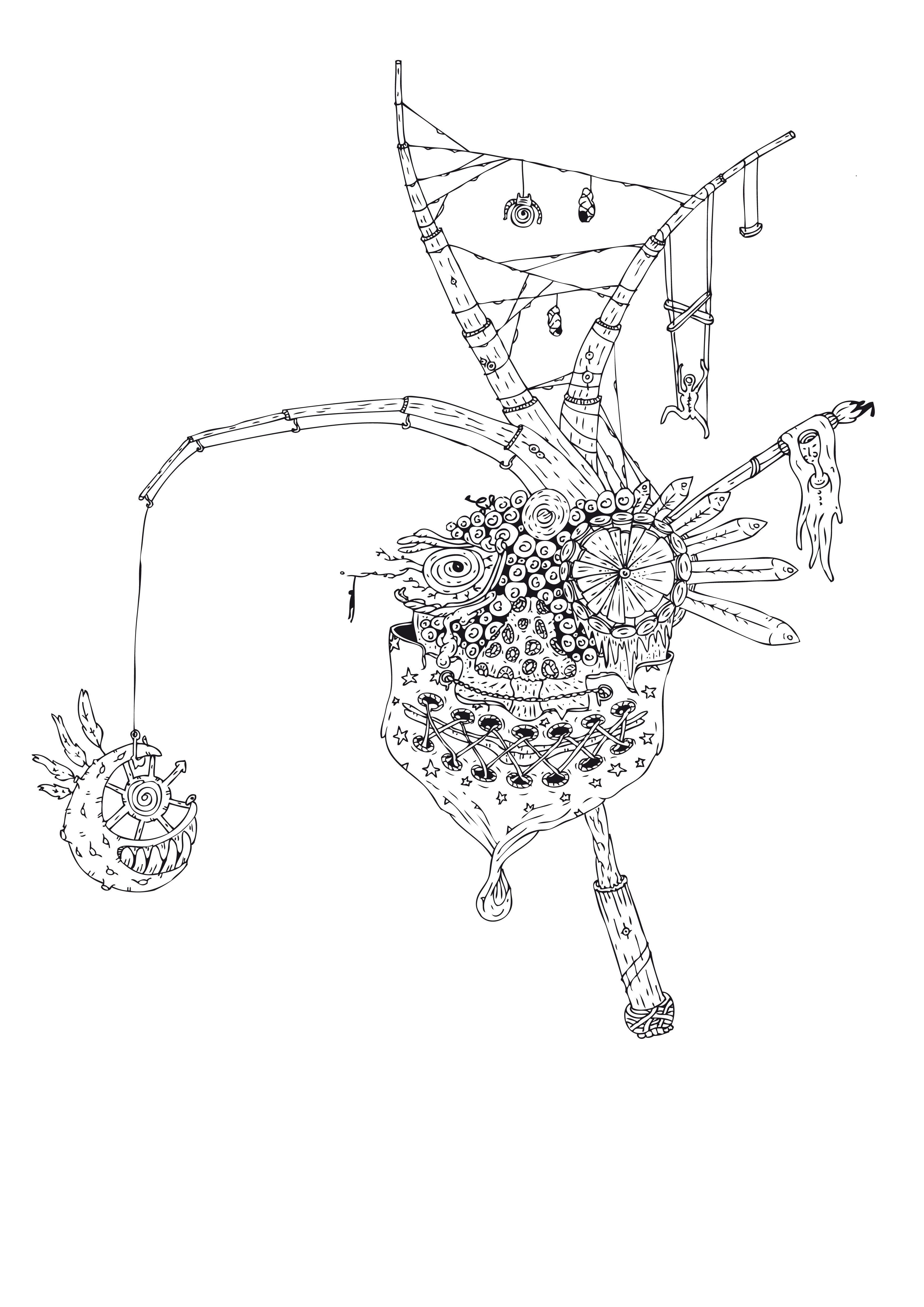 Hung Carusel // Sii fossi matto, riserverei lo sdegno a 'sto mondo; se non lo fossi, forse mi augurerei fosse un sogno; di certo soffro, rinnego ogni ricordo e ripiego nel sonno  a cui ogni ogni giorno mi auguro il ritorno. #carusel #game #art #treep #fallindropdesign #mask