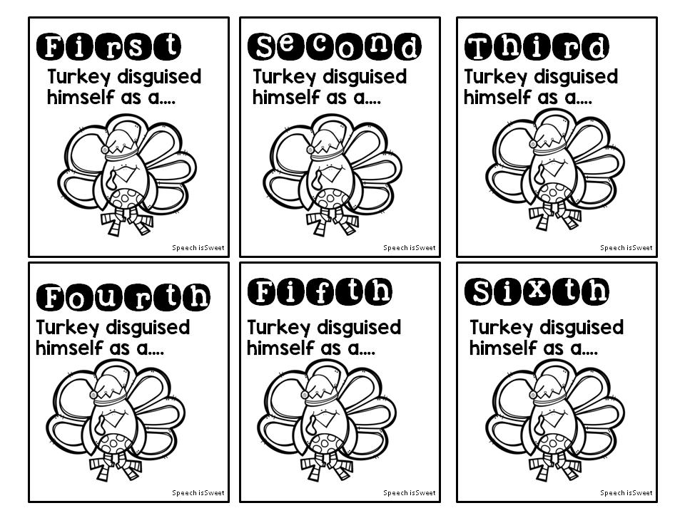 Turkey Claus Speech Is Sweet Turkey Trouble Turkey Trouble Activities Teaching Freebies