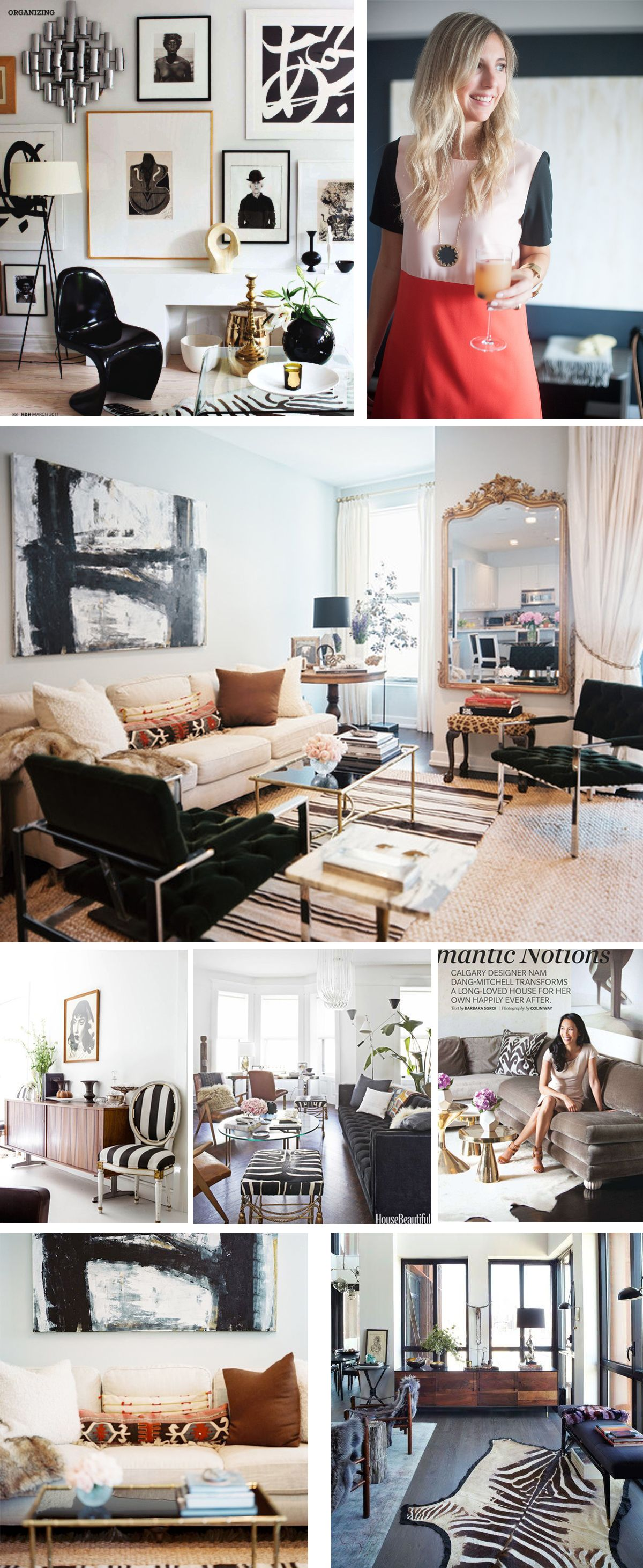 ONE ROOM CHALLENGE- The City Condo- Week 1 (NOTE: black+white, plus ...