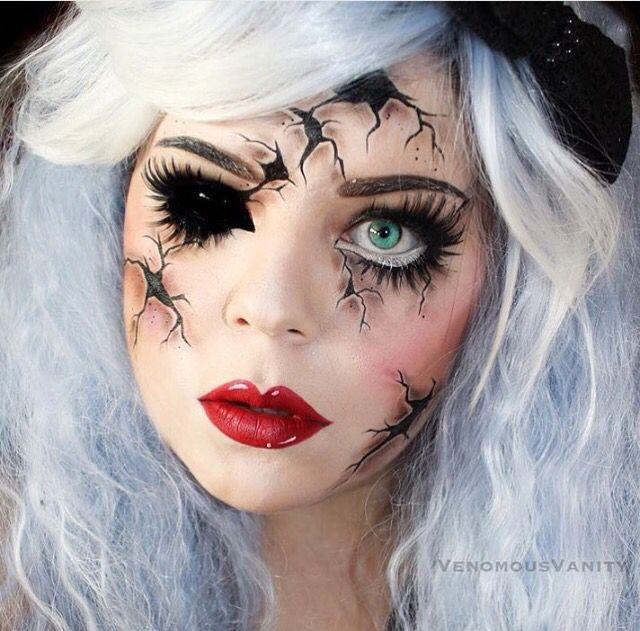 Creepy Doll Makeup Halloween Makeup Pretty Creepy Doll Makeup Doll Makeup Halloween