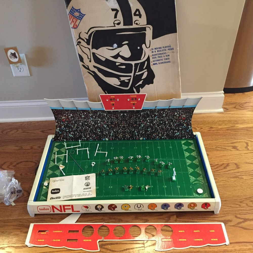 Vintage NFL Tudor Electric Football Game Packers Vs Rams Model 618 1960s