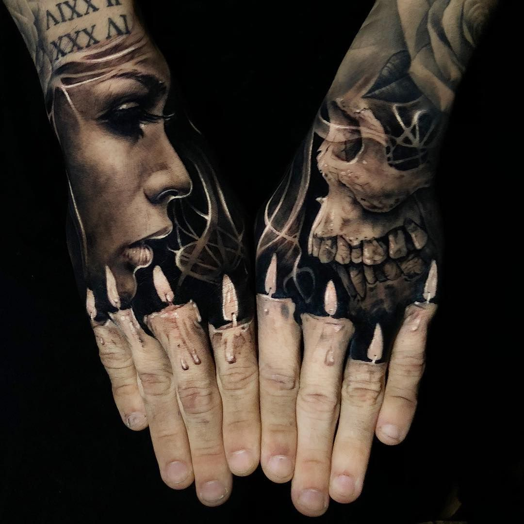 Awesome Black And Grey Hand Tattoos Art Works Done By Tattoo Artist