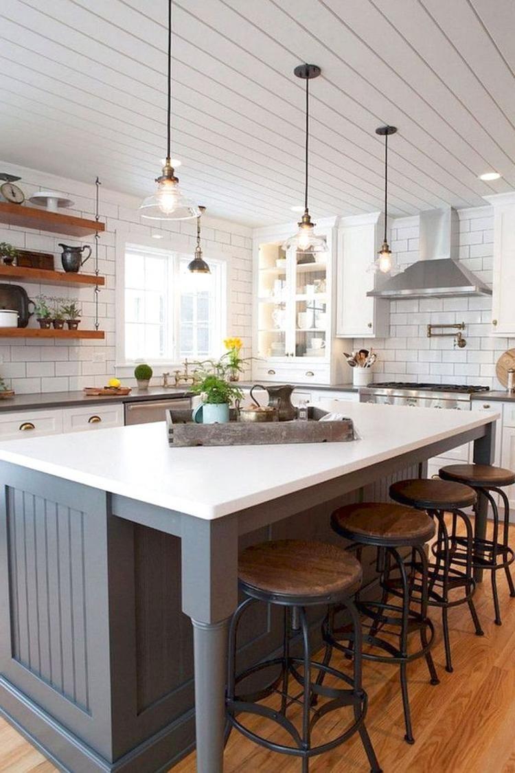 35 stunning farmhouse kitchen island decor ideas house