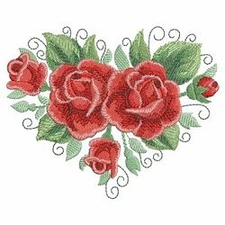 Watercolor Red Roses Set, 12 Designs - 3 Sizes! | Floral - Flowers | Machine Embroidery Designs | SWAKembroidery.com