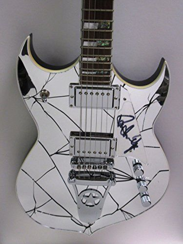All I Want For Christmas This Year Is Paul Stanley Signed Autograph Mirror Cracked Electric Guitar W Case Kiss Rock Rol Guitar Paul Stanley Electric Guitar