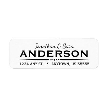 Deco Text Divider with Script Text Return Address Label Return - sample address label