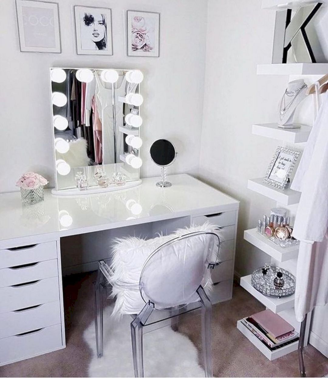 15 Impressive Diy Makeup Vanity Decoration Ideas That You Will Love It Vanity Decor Room Decor Beauty Room