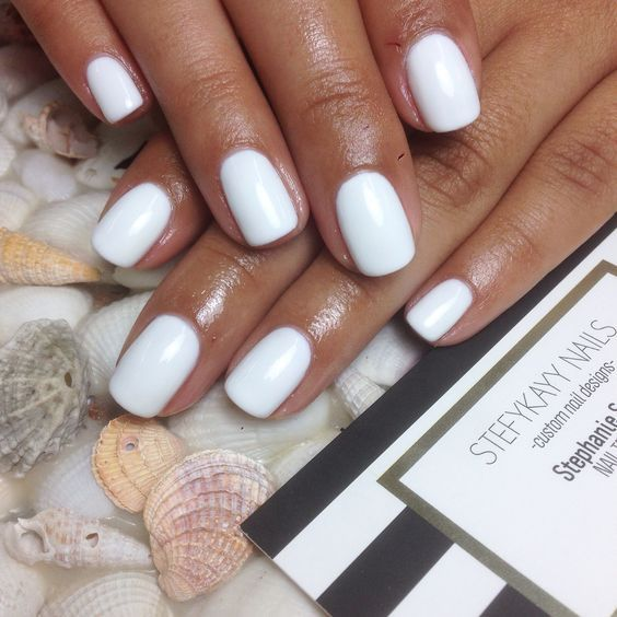 47 Stylish White Nail Designs And Ideas For This Fall Koees Blog White Gel Nails Gel Manicure Colors White Nail Designs