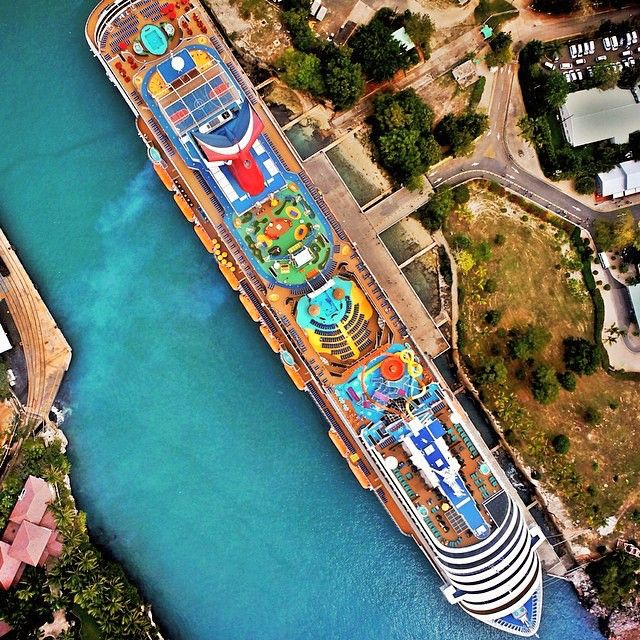 An Amazing Aerial Shot Above The Carnival Breeze
