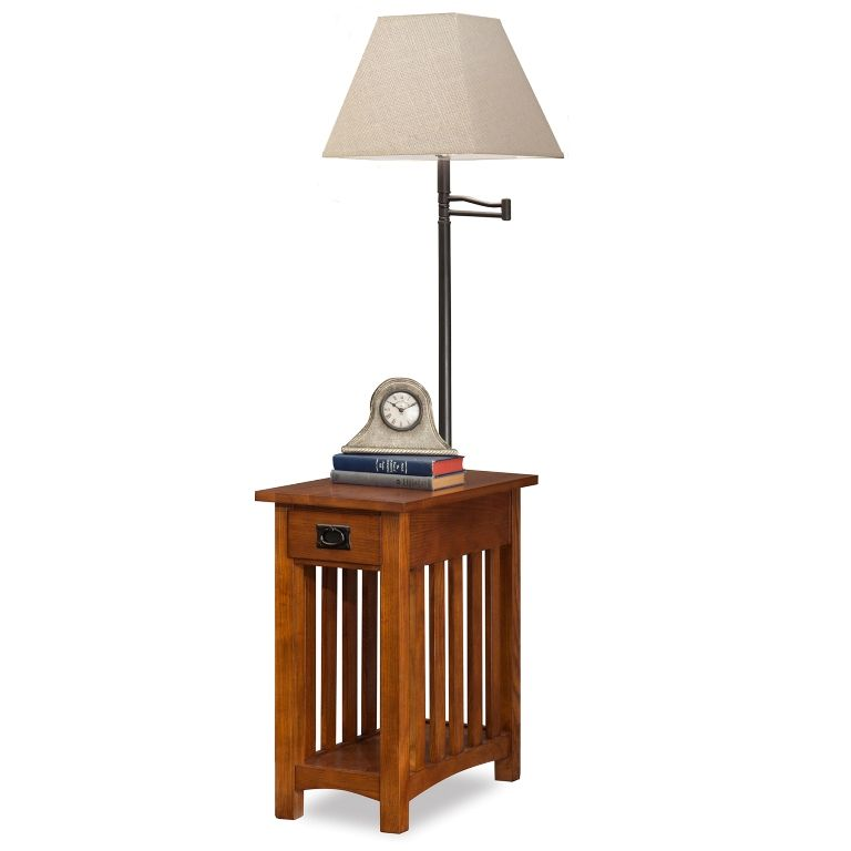 Mission Chairside Lamp Table Leick Furniture 10028 In 2021 Table Lamp Swing Arm Lamp Lamp