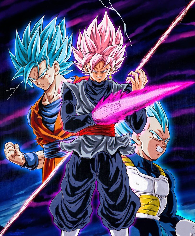 Goku y vegeta vs black ssj rose by naruto999 by roker - Goku vs vegeta super saiyan 5 ...
