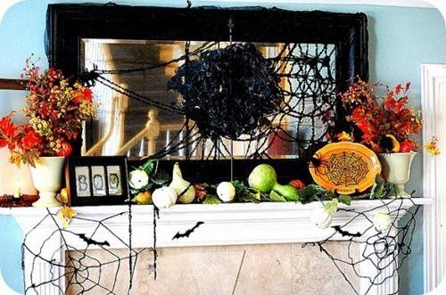 Decoración de interiores para halloween / Halloween themed chimney