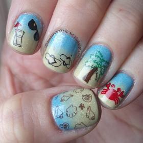 winstonia review  beach nail art beach nails nail art