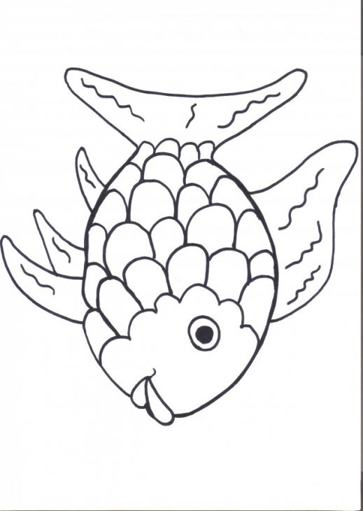Printable Rainbow Fish Online Coloring Page For Preschoolers